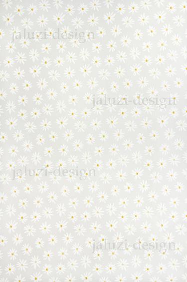 Ткань для рулонных штор С125 Ромашки белые