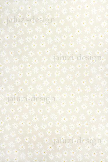 Ткань для рулонных штор С126 Ромашки бежевые