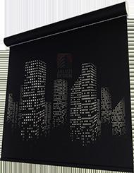 Рулонные шторы с дырками в виде ночного города
