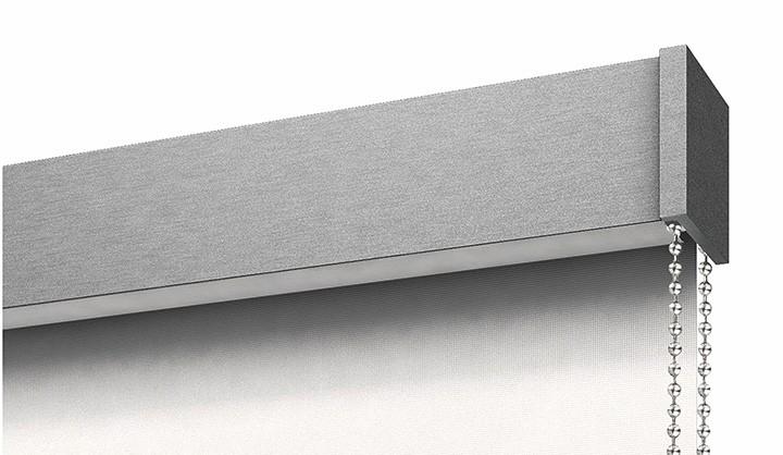 Тканевая ролета закрытого типа системы Hi-Tech Lux цвета Stainlesssteel