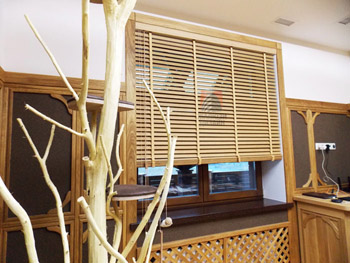 Жалюзи из бамбука с шириной ламели 50мм