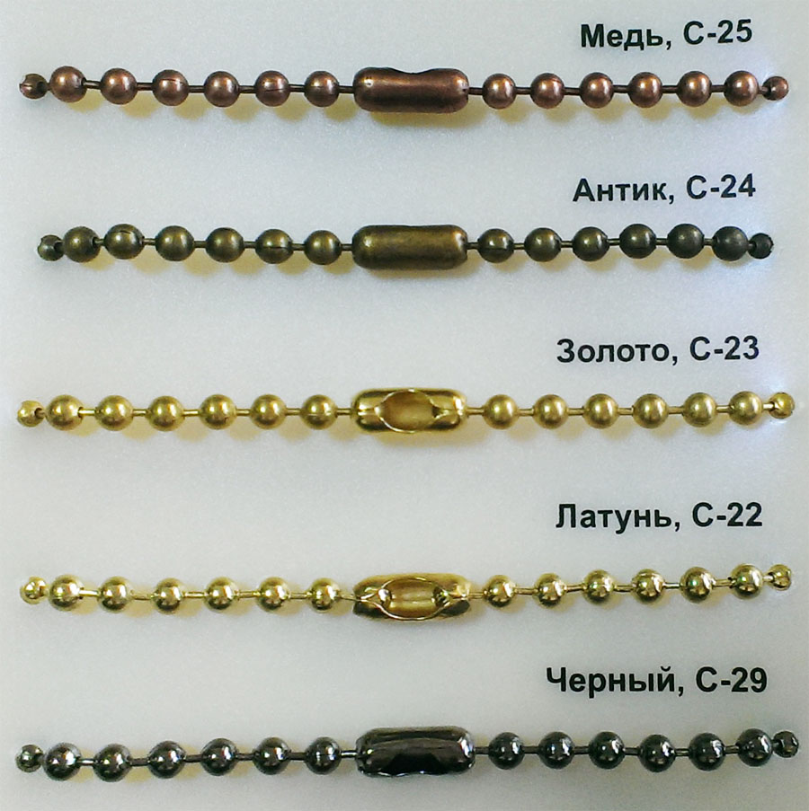 Дизайнерские цепочки для рулонных штор