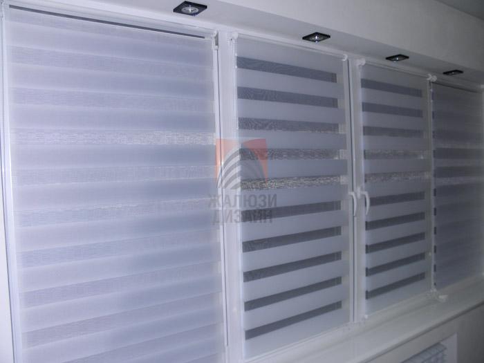 Рулонные шторы День-Ночь в интерьере