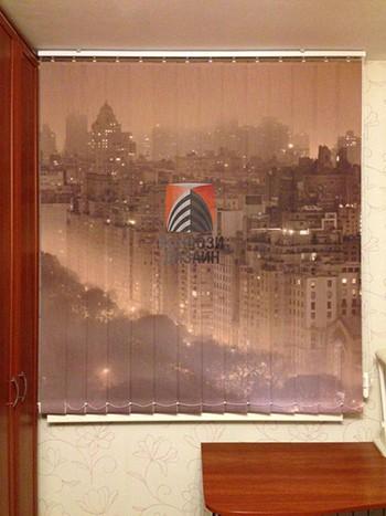 Картина вечернего города