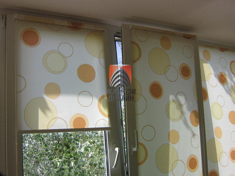 Открытая система рулонных штор для пластиковых окон