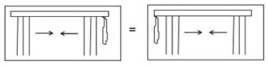 Раздвижка Т3 - вертикальные жалюзи закрываются к центру