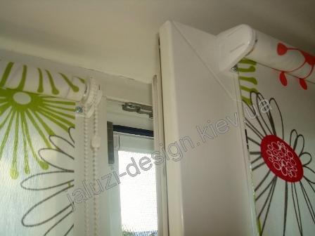 Установка рулонной шторы на поворотно-откидное окно