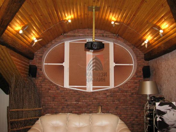 Шторы плиссе премиум идеально подошли для окна сложной формы