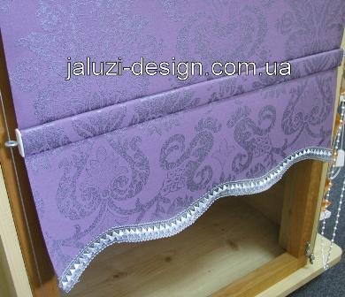 Изготовление рулонных штор с воланом