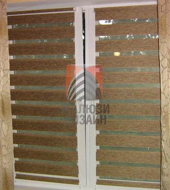 Рулонные шторы День-Ночь - полосы расположены параллельно друг другу