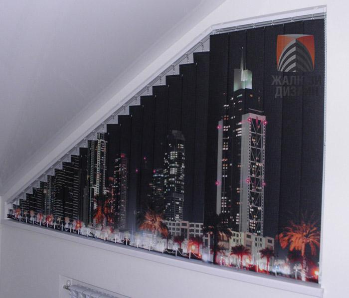 Дубай - изображение, нанесенное на ткань для вертикальных жалюзи