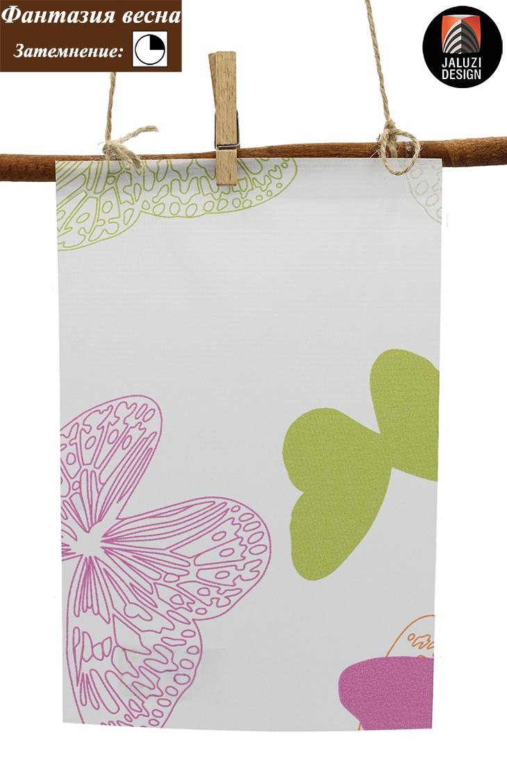 Рулонные шторы для детей из ткани Фантазия весна