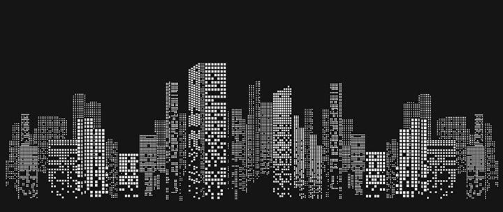 Макет Ночного Города для перфорированных рулонных штор