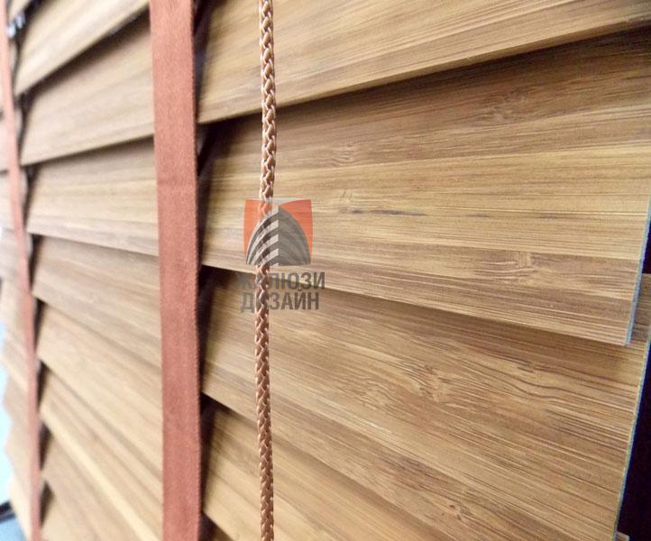 Бамбуковые жалюзи с шириной ламели 50мм, цвет Янтарь