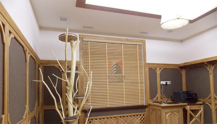 Бамбуковые жалюзи 50мм цвета Янтарь
