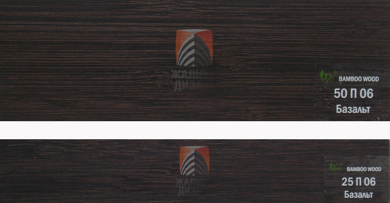 Ламель для бамбуковых жалюзи цвета базальт