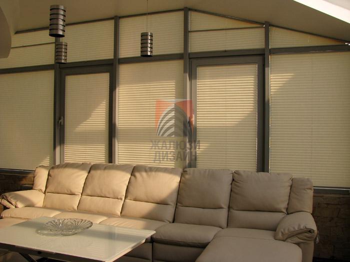 Внешний вид штор-плиссе в ЖК Паркове мисто