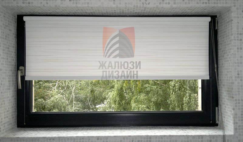 Ткань Аква Лайн в открытой системе рулонных штор