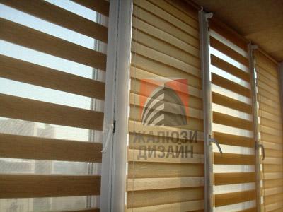 Рулонные шторы День-Ночь, фото на металлопластиковом окне