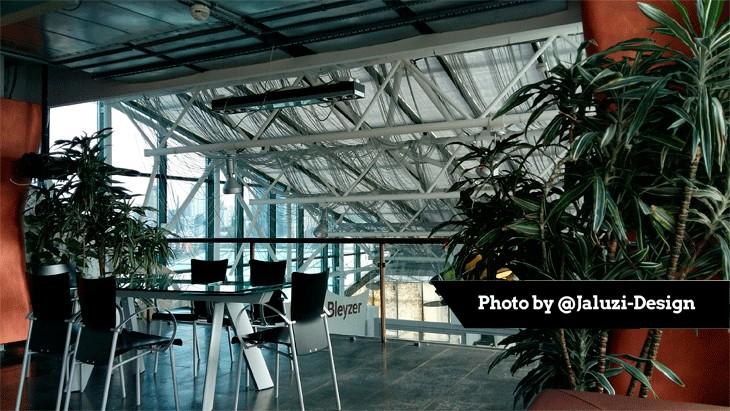 Шторы-плиссе в офисе компании SygmaBleyzer